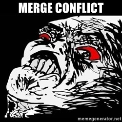 Rage Face - merge conflict
