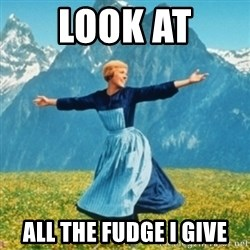 Sound Of Music Lady - LOOK AT ALL THE FUDGE I GIVE