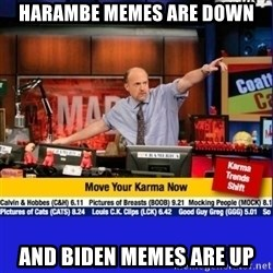 Move Your Karma - harambe memes are down and biden memes are up