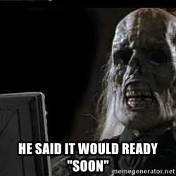 """OP will surely deliver skeleton -  He said it would ready """"soon"""""""