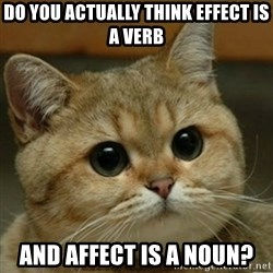 Do you think this is a motherfucking game? - do you actually think effect is a verb and affect is a noun?