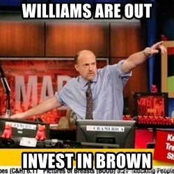 Karma Cramer - WILLiams are out Invest in Brown