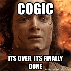 Frodo  - COGIC  ITS OVER, ITS FINALLY DONE