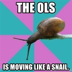 Synesthete Snail - The OLS is moving like a snail.