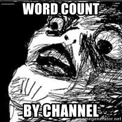 Omg Rage Guy - Word count by channel