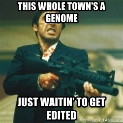 Tony Montana - This whole town's a genome Just waitin' to get edited