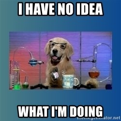 Chemistry Dog - i have no idea what i'm doing