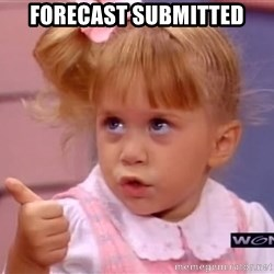 thumbs up - forecast submitted