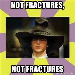 Harry Potter Sorting Hat - Not Fractures, Not Fractures