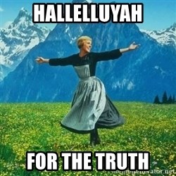 Julie Andrews looking for a fuck to give - hallelluyah For the truth