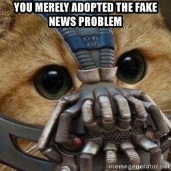 bane cat - You merely adopted the fake news problem