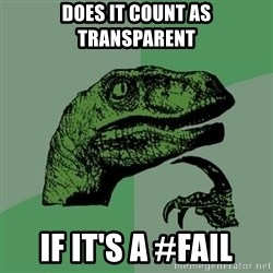 Raptor - Does it count as transparent if it's a #fail