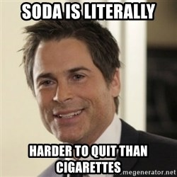 Chris Traeger - Soda is Literally Harder to quit than cigarettes