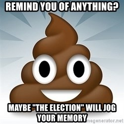 "Facebook :poop: emoticon - remind you of anything? Maybe ""The Election"" will jog your memory"