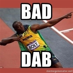 USAIN BOLT POINTING - BAD DAB