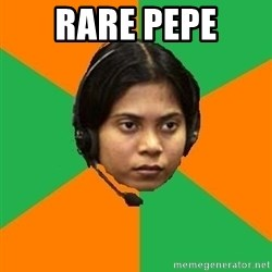 Stereotypical Indian Telemarketer - Rare pepe