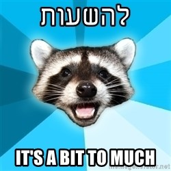 Lame Pun Coon - להשעות it's a bit to much