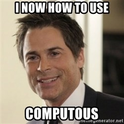 Chris Traeger - i now how to use computous