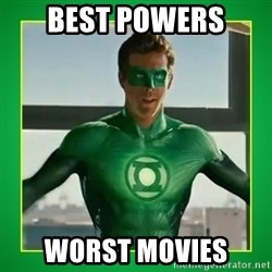 Green Lantern - Best Powers Worst movies
