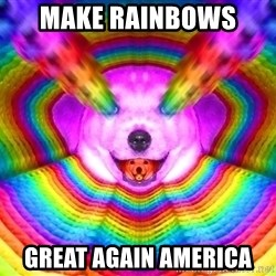 Final Advice Dog - make rainbows  great again america