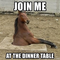 Hole Horse - Join me At the dinner table