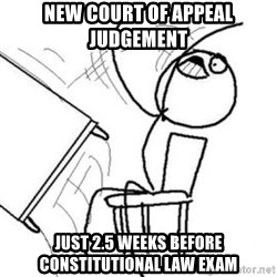 Flip table meme - new Court of Appeal judgement just 2.5 weeks before constitutional law exam