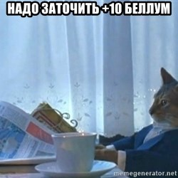 newspaper cat realization - Надо заточить +10 беллум