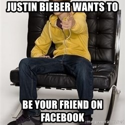 Justin Bieber Pointing - Justin Bieber Wants To  Be Your Friend On Facebook