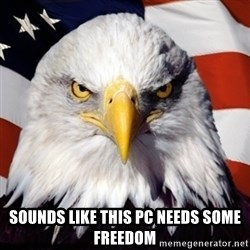 Freedom Eagle  -  Sounds like this PC needs some freedom