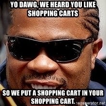 Xzibit - Yo dawg, we heard you like shopping carts So we put a shopping cart in your shopping cart.