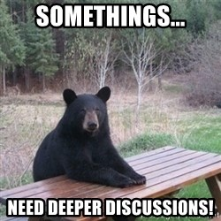 Patient Bear - Somethings... Need deeper discussions!