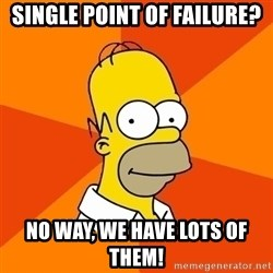 Homer Advice - single point of failure? no way, we have lots of them!