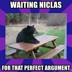 waiting bear - WAITING NICLAS FOR THAT PERFECT ARGUMENT