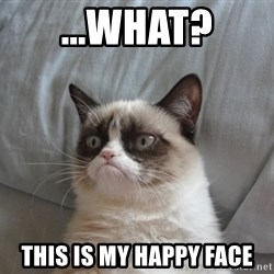 Grumpy cat 5 - ...what? this is my happy face