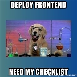 Chemistry Dog - Deploy Frontend need my checklist