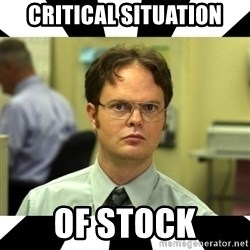 Dwight from the Office - CRITICAL SITUATION OF STOCK