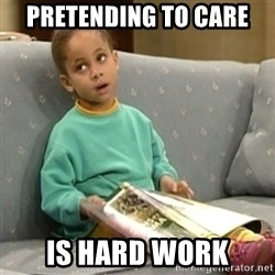 Olivia Cosby Show - pretending to care is hard work