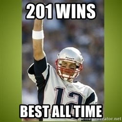 tom brady - 201 Wins Best all time