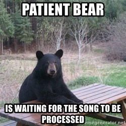 Patient Bear - Patient Bear is waiting for the song to be processed