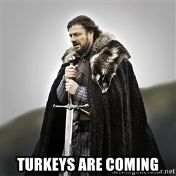 Game of Thrones -  Turkeys are coming