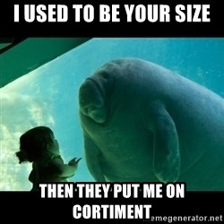 Overlord Manatee - I used to be your size Then they put me on Cortiment