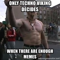Techno Viking - Only Techno Viking decides  when there are enough memes