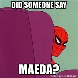 Suspicious Spiderman - Did someone say Maeda?