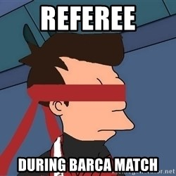 fryshi - referee during barca match
