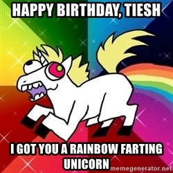 Lovely Derpy RP Unicorn - Happy birthday, Tiesh I got you a rainbow farting unicorn