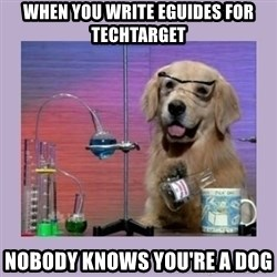 Dog Scientist - When you write eguides for TechTarget nobody knows you're a dog