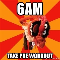 Animal Muppet - 6AM Take pre workout
