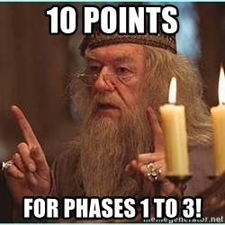 dumbledore fingers - 10 Points For phases 1 to 3!