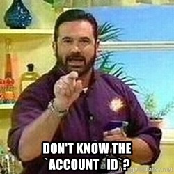 Badass Billy Mays -  Don't know the `account_id`?