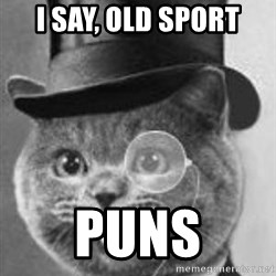 Monocle Cat - I say, old sport Puns